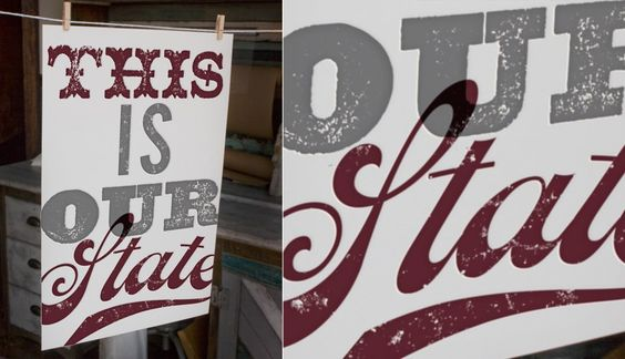 This Is Our State letterpress poster
