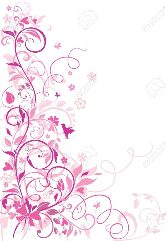 18921562-Greeting-floral-border-Stock-Vector-border-pink ...