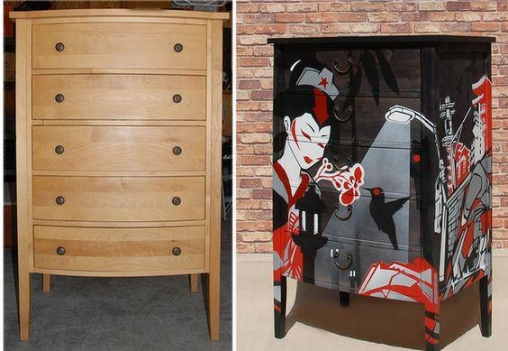 Mais móveis repaginados - antes e depois