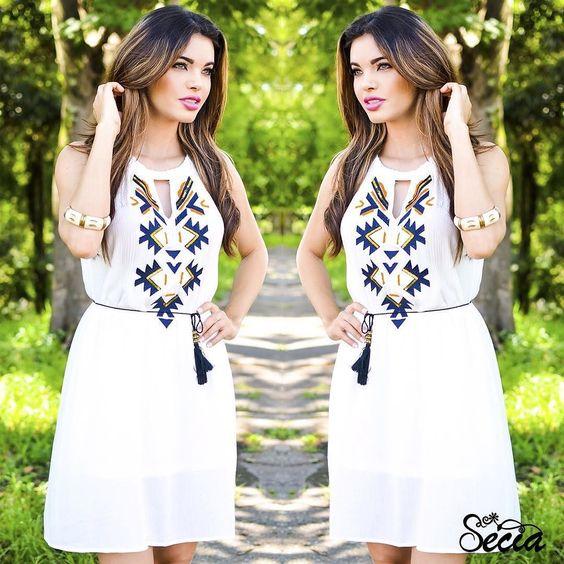 Bom dia! Começamos a semana ao melhor estilo fresh no modelito Sécia de bordado étnico!  Marketing: @mkt_lamode  #fashion #style #stylish #beauty #beautiful  #model #outfit  #ootd #outfitoftheday #lookoftheday #fashiongram #currentlywearing #lookbook #ootdshare #outfit #clothes #wiw #mylook #fashionista #todayimwearing #instastyle #instafashion #outfitpost #fashionpost #fashiondiaries by seciamodas