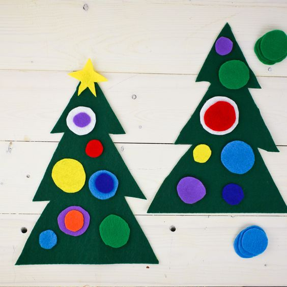 Great for preschoolers - these Christmas trees are easy to make and are really cute!