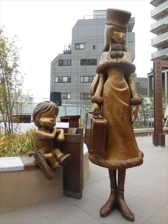 CATSUKA - Life-size bronze statues of anime/manga characters...