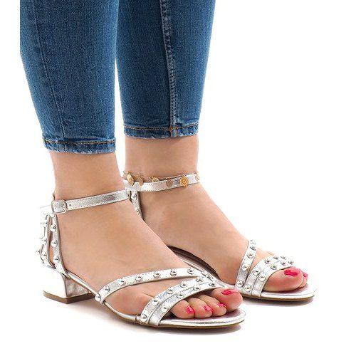 Sandals Women S Butymodne Silver High Heels 77 11 White Silver High Heels Womens Sandals High Heels
