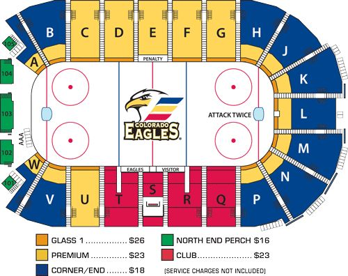 Colorado eagles seating chart at the budweiser events center