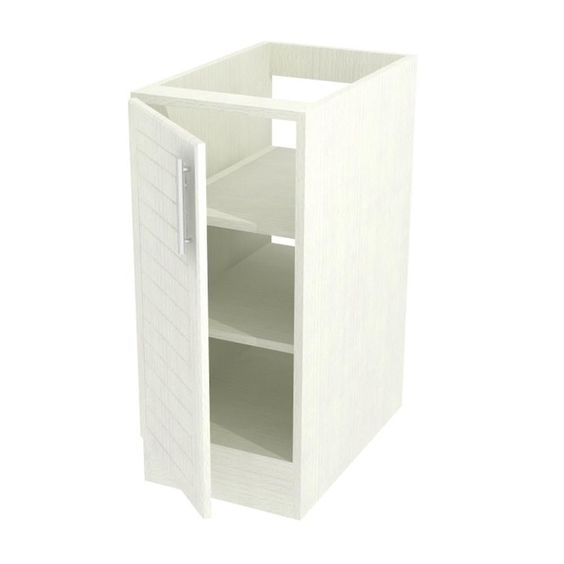 Assembled 12x34.5x24 in. Key West Open Back Base Cabinet with Full Height Doors Left in Radiant White