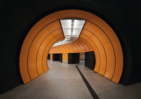 Subway Station in Munich by Nick Frank