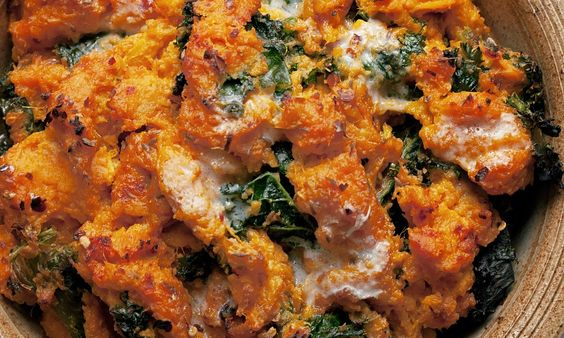 Soft orange sweet potato mingles with tangy green kale to make one of the healthiest, tastiest dishes you can ever hope to find. By Nigel Slater