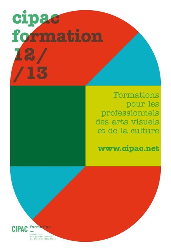 Fanette Mellier, affiche pour Cipac qui est une association fédérant des professionnels de l'art contemporain et des formations, 2011-2013