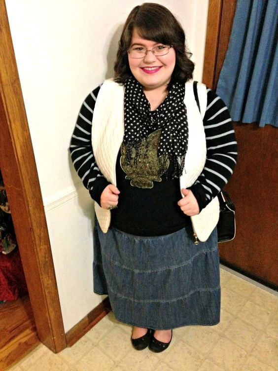 Unique Geek: Plus Size OOTD: Mixed, Layered Patterns: