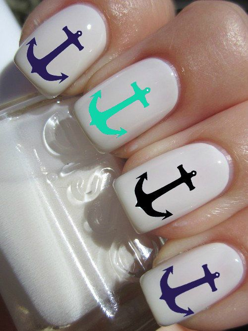 Anchor Nail Decals via Etsy