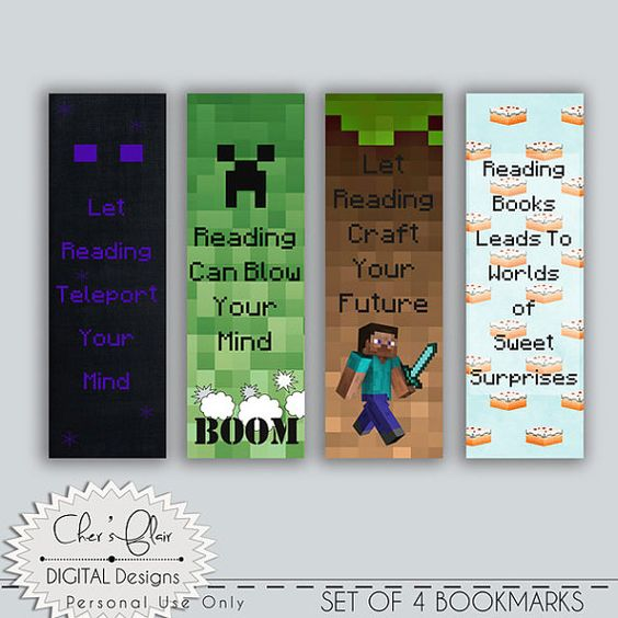 minecraft bookmark template - pinterest the world s catalog of ideas