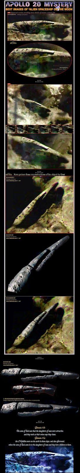 Massive 1.5 Million-Year-Old Cigar UFO On Moon? The Secret Apollo 20 Mission