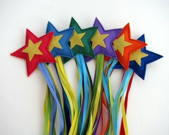 Shooting stars. Felt filled with rice. What a fun throwing toy!: