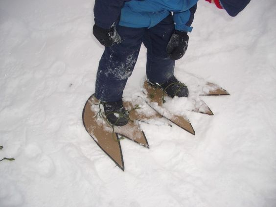 baby monster snowshoes