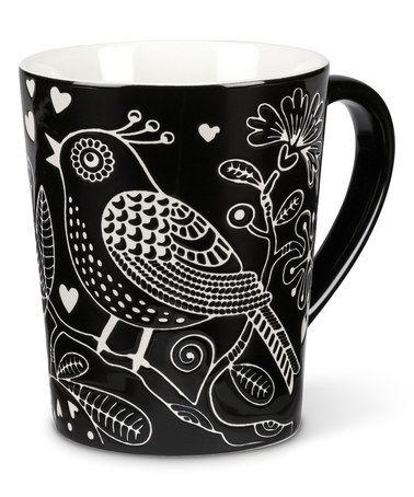 This Black Bird Stencil Mug is perfect! #zulilyfinds