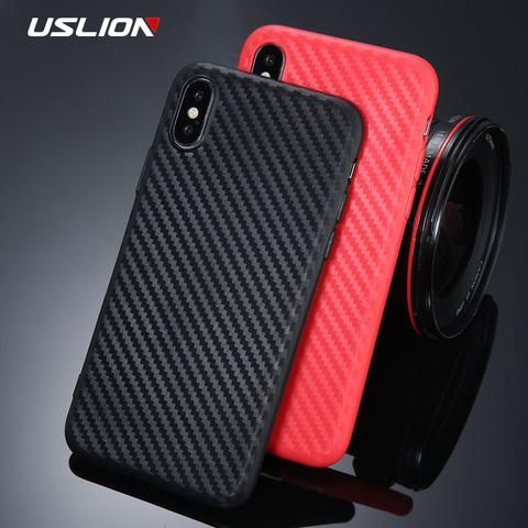 Uslion Fashion Carbon Fiber Texture Phone Case For Iphone X Soft Tpu Silicon Back Cover For Iphone 6 6s 7 8 Diy Phone Case Print Phone Case Phone Cases Iphone6