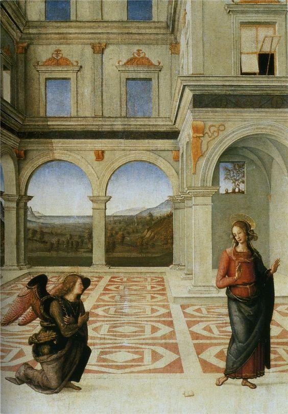 Pietro Perugino, Annunciazione Ranieri, Perugia, Galleria Nazionale dell'Umbria