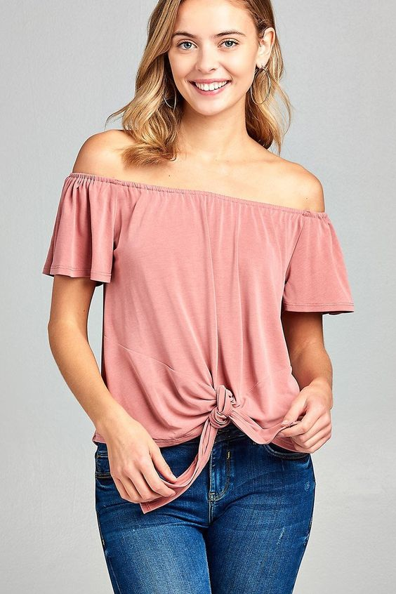 Short Sleeve Rose Off Shoulder Front Knot Top$22.99 #fashion #nycfashionblogger #californiagirl #dress #miamifashionblogger #fashionbloggers #instafashion #ootd #plussizedress #nyc #girlpower #girlsjustwannahavefun #girls #manhattan #dresses #nycfashion #fashionblogger #girly #instagood #plussize #plussizefashion #plussizedresses #onlineboutique #aleyacollections #losangeles #newyorkgirl #onlineshopping