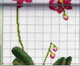 ♥Meus Gráficos De Ponto Cruz♥ Orquídeas em Vasos Orientais para Ponto Cruz