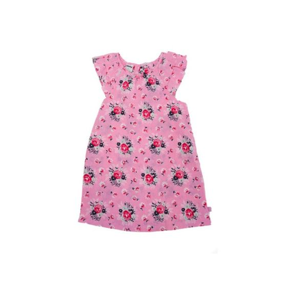 This is gorgeous lightweight vintage floral Dress in pink with frill sleeves.  Recommendation Match up with a little pair of Beautiful Soles Leather shoes MJs Snow White