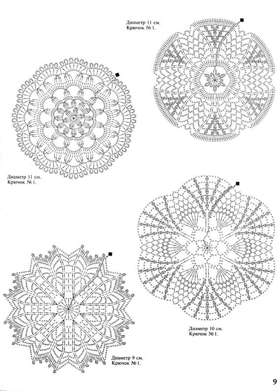small doilies: