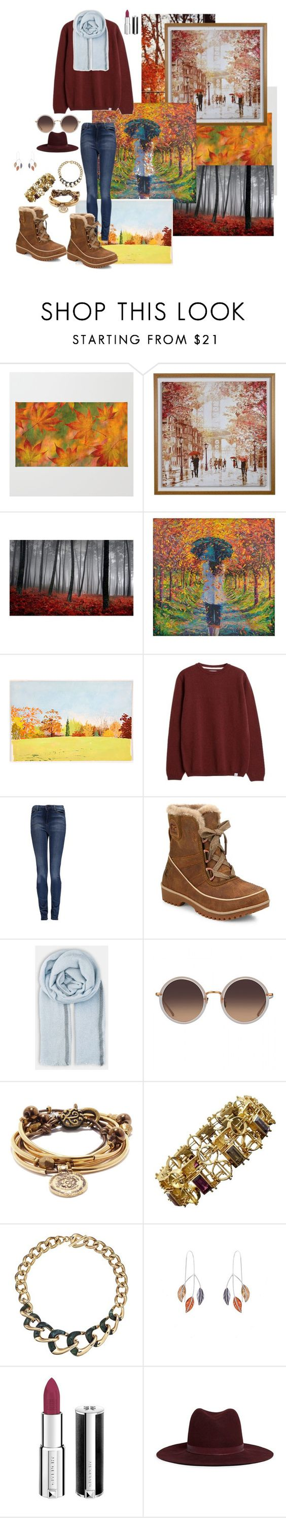 """""""Autumn Or Fall...We See It All"""" by miss-countryside ❤ liked on Polyvore featuring Art for Life, Norse Projects, Vero Moda, SOREL, BeckSöndergaard, Lizzy James, Michael Kors, Caroline Royal, Givenchy and Janessa Leone"""