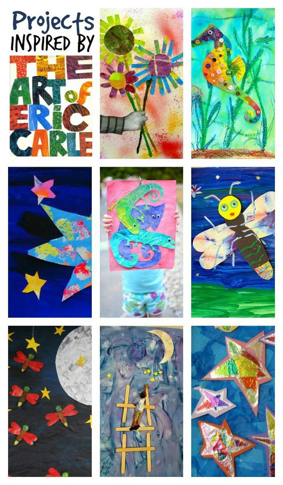 Eric carle ilustr to i and kol on pinterest for Books with art projects