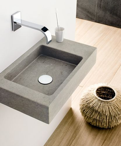Square Wall Mounted Basin : concrete design concrete sink 2015 trends sinks basins design ...