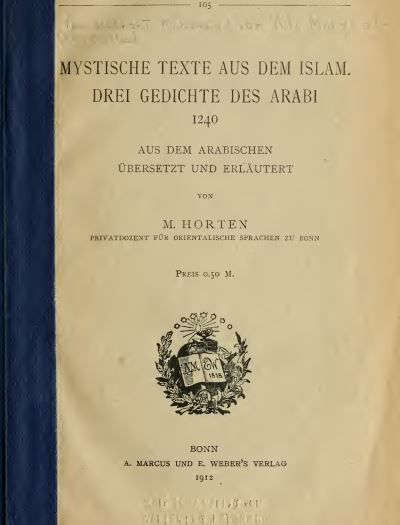 """Ibn Arabi wird von muslimischen Gelehrten """"Meister der Mystiker"""" oder """"größter Meister"""" genannt. Das kurze Buch enthält eine Einführung in die islamische Mytsik und die drei bedeutendsten Gedichte des Ibn Arabi."""