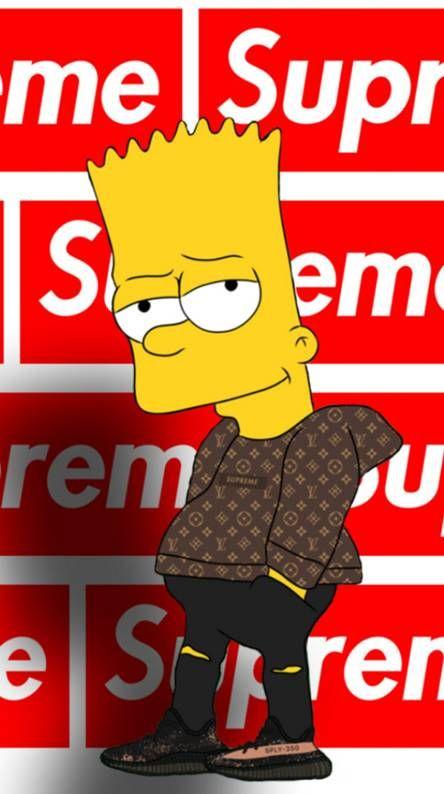 Bart Flexing Yeezy Bart Simpson Wallpapers Supreme Wallpaper Simpson Wallpaper Bape cool bart wallpapers