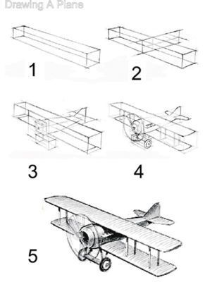 Cartoon how to draw and to draw on pinterest - Avion a dessiner ...