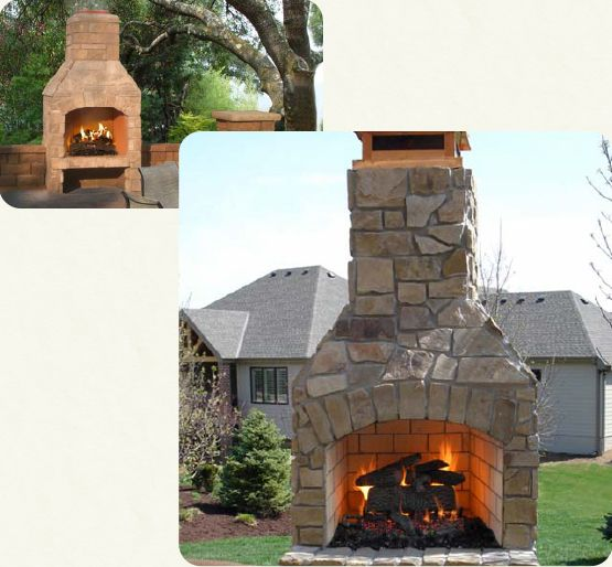 Indoor And Outdoor Fireplaces Stone Age Manufacturing Outdoor Fireplace Kits Indoor Outdoor Fireplaces Fireplace