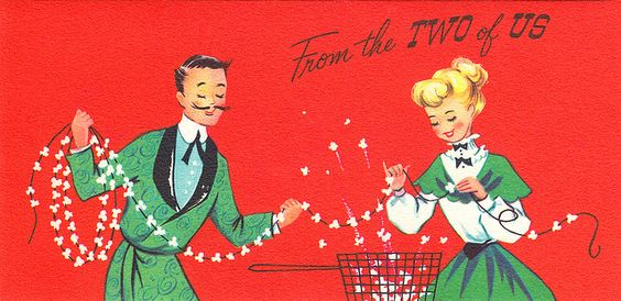 From the Two of Us - 1950s Christmas card