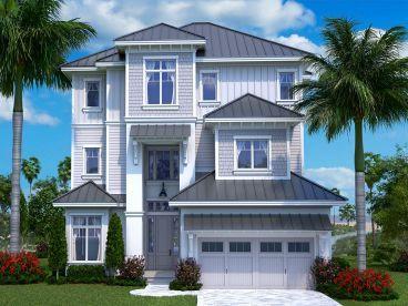 Three-Story Coastal House Plan, 037H-0241