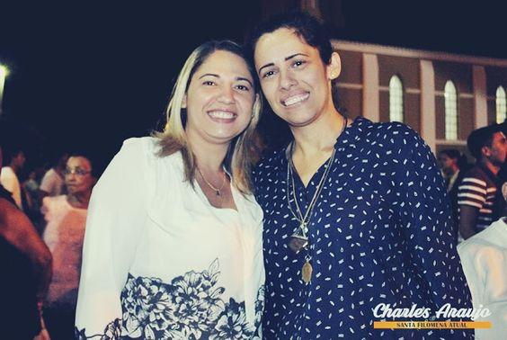Santa Filomena Atual: Nuria Mallena visita sua irmã Pollyana Amaral e di...