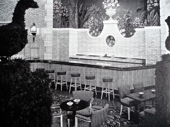 Late 1940's Bar/Restaurant - Dorothy Draper