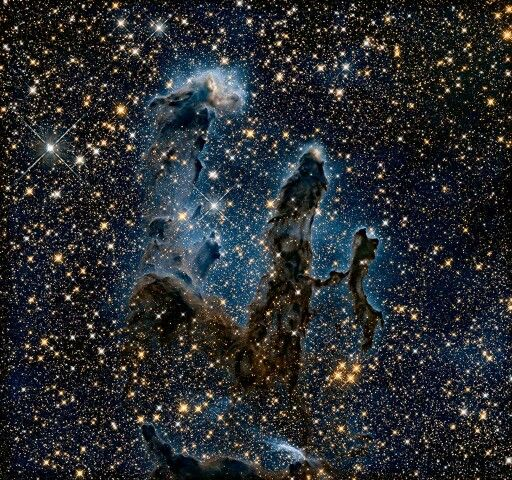 Pillars of Creation in infrared. Cool