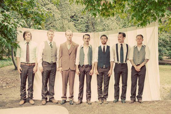 Groomsmen variety-great gatsby-1920s' gangster-wedding
