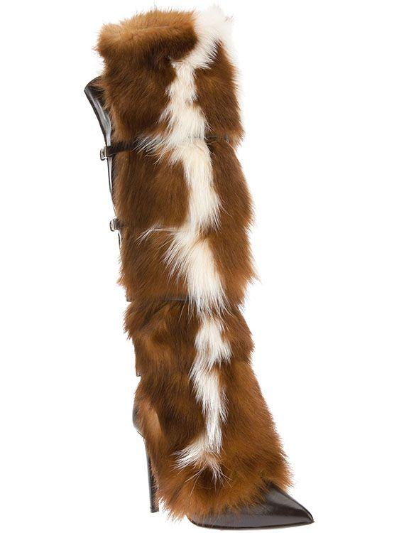 Roberto Cavalli Fox Fur Trimmed Boot