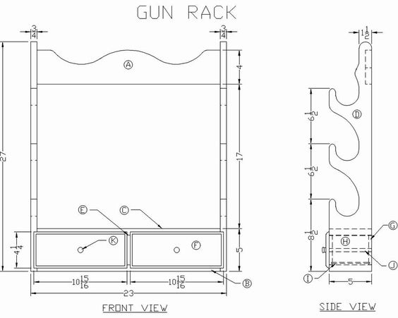 long gun rack and how to build it