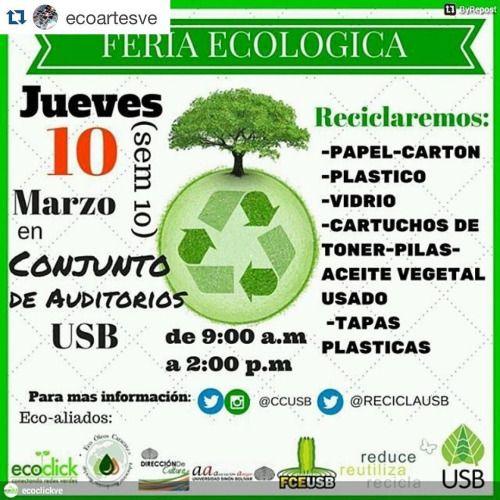 #Repost @ecoartesve with @repostapp.  Apoyemos el #reciclaje...
