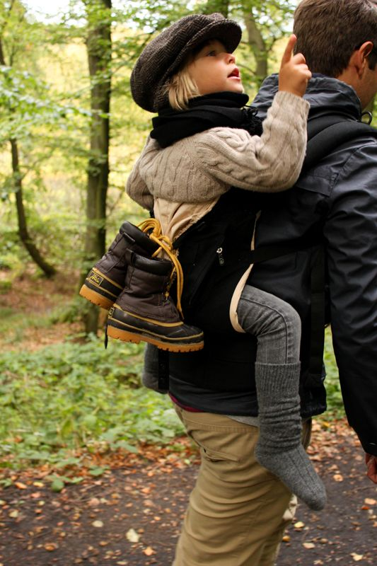hiking with dad.