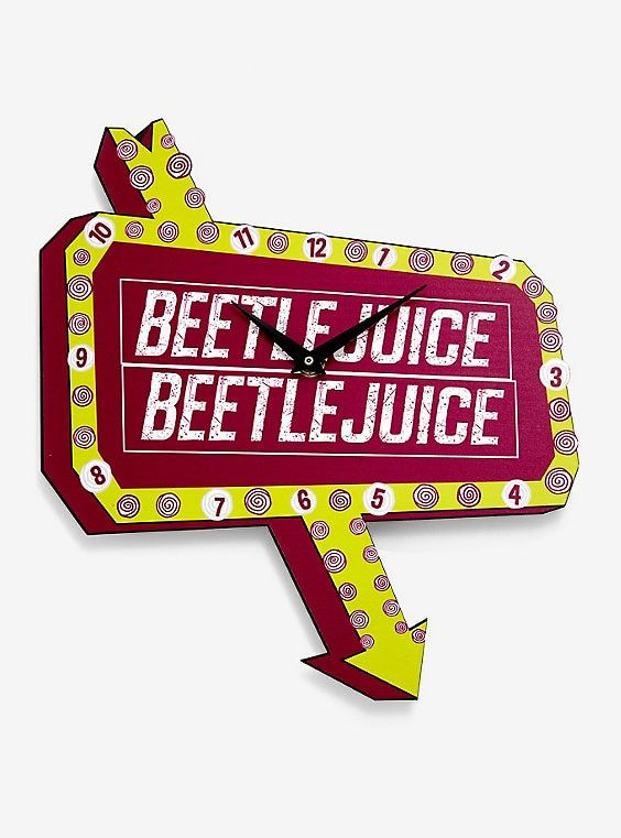 Beetlejuice Neon Sign Wall Clock In 2020 Wall Signs Neon Signs Beetlejuice