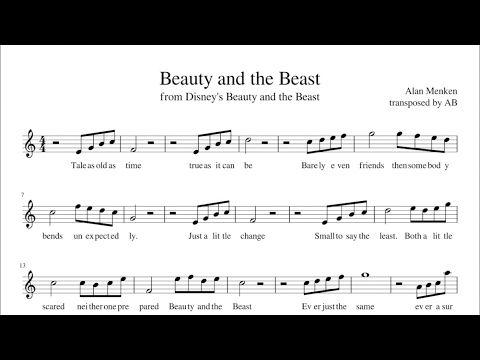 Beauty And The Beast Sheet Music Pdf Alto Sax Cover Lyrics