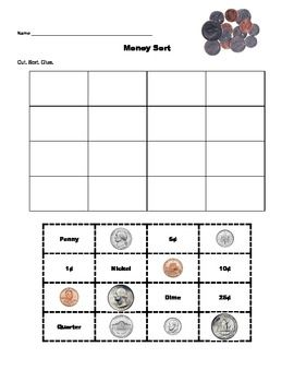 Printables Aaa Math Worksheets money sort worksheet free aaa math pinterest student pictures of and the words