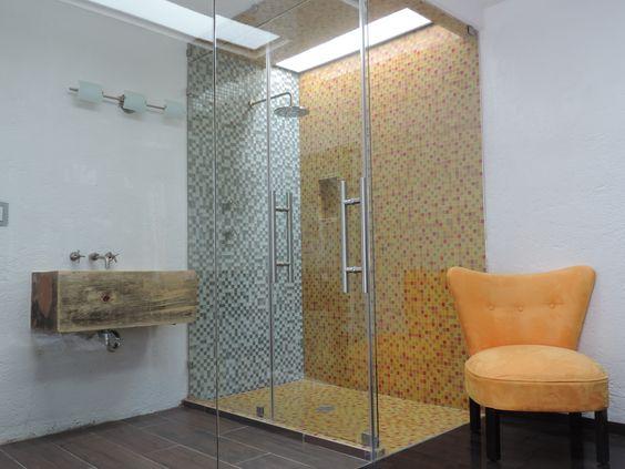 Baño Integrado En Vestidor:Remodelación en la cual el baño principal fue integrado al vestidor
