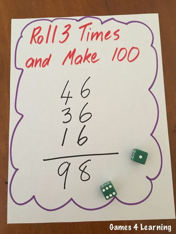 Roll 3 Math Game - I love this game for really getting kids to think and estimate!