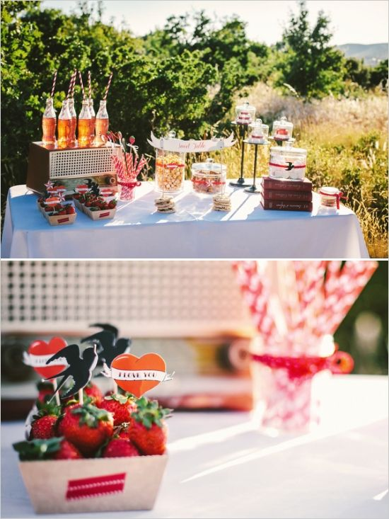 vintage coke bottles at wedding reception #vintage #weddingreception #weddingchicks http://www.weddingchicks.com/2014/01/22/rockabilly-wedding-ideas/