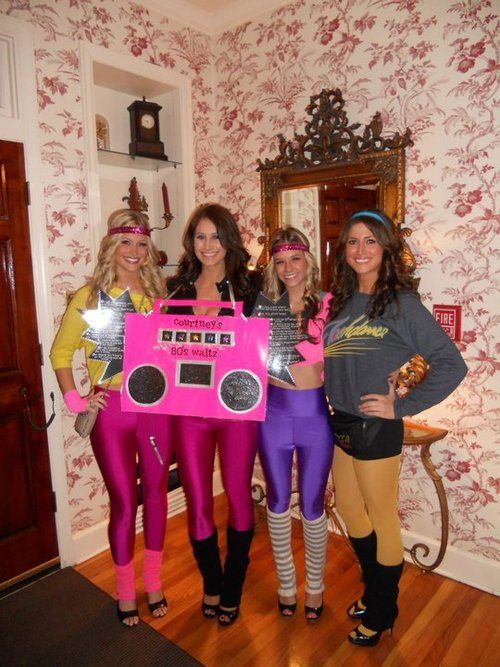 80s party cute outfit... Ladies, ladies, ladies, I'm kind of embarrassed for you because we DIDN'T dress like this, ever!! Ugh!