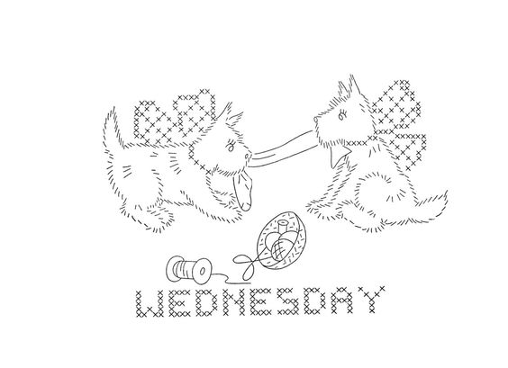 Hand Embroidery Pattern 9193 Scotty Dogs for Days by BlondiesSpot